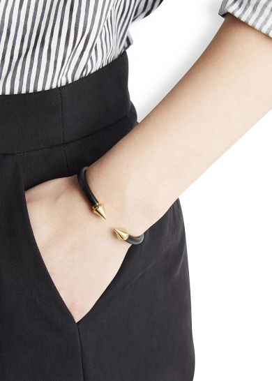 VITA FEDE Mini Titan Gold Plated Twin Spike Bracelet