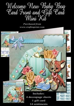 Welcome New Baby Boy on Craftsuprint - Add To Basket!