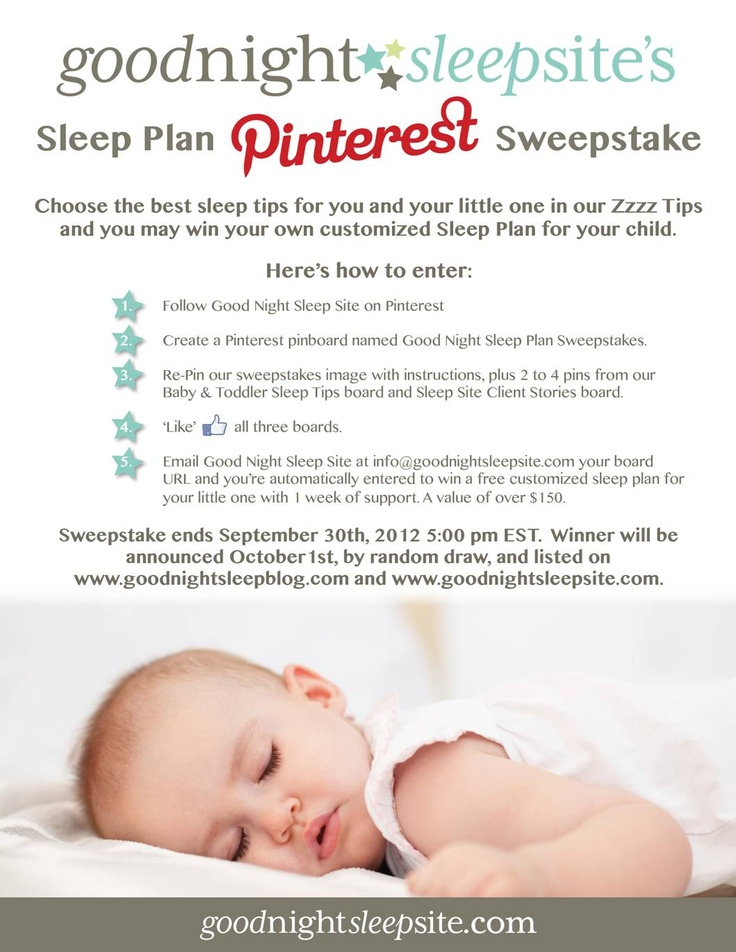 You could WIN a customized Sleep Plan from   Good Night Sleep Site.  Follow the instructions to enter to win!