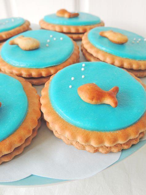 sweet table, Geburtstagsfeier, am See, Fischli, Fisch, Deko