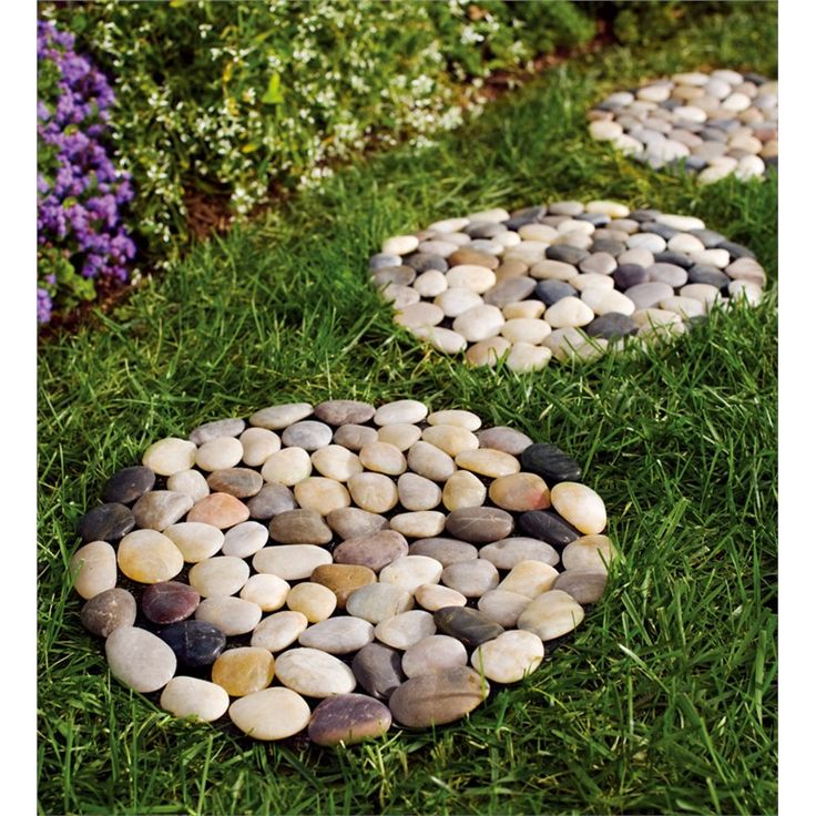 River Rock Stepping Stones, set of 3 | Pathways & Stepping Stones