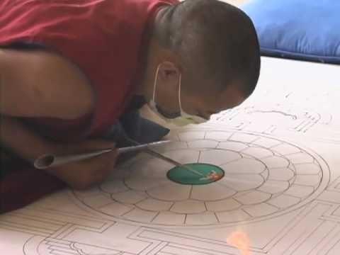 Tibetan Sand Mandala - does not show the deconstruction