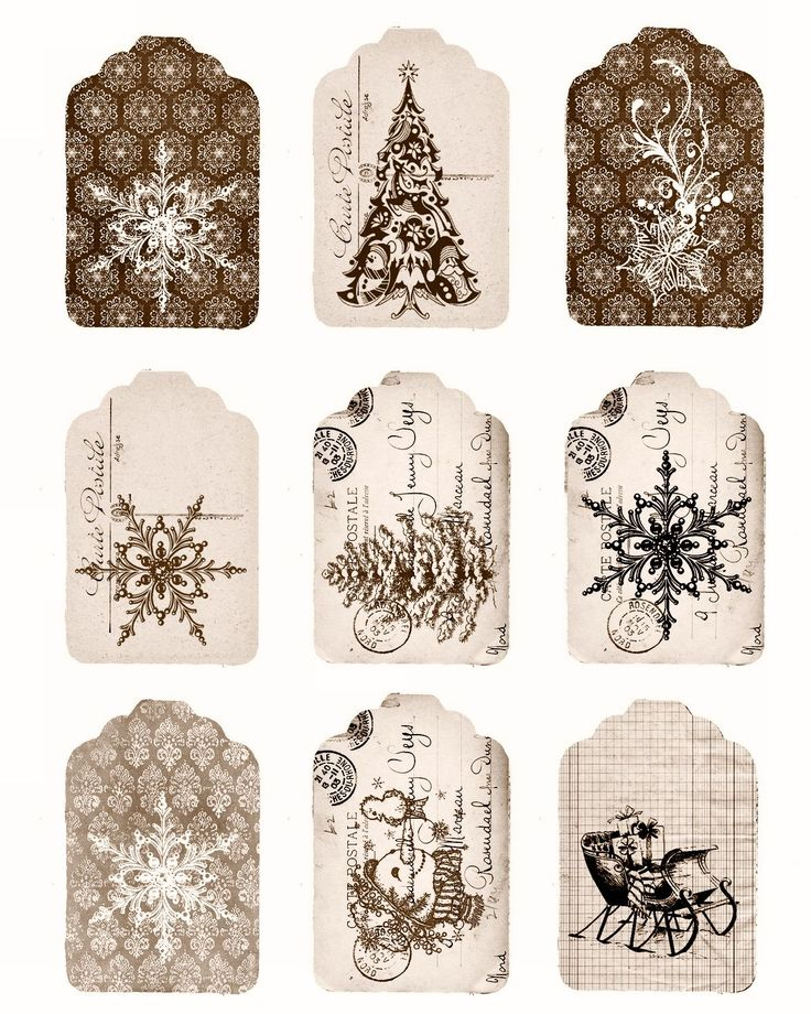 62 Best Printable Christmas Gift Tags Images On Pinterest