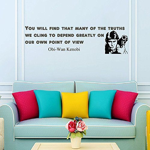 Wall decals quotes obi wan kenobi star wars you will find that many of the truths wall decal sayings kids boys room bedroom dorm decor