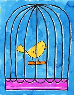 Bird in a Cage Tutorial – Art Projects for Kids