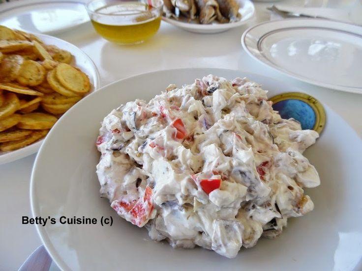 Betty's Cuisine: Μελιτζανοσαλάτα με πιπεριά Φλωρίνης και γιαούρτι