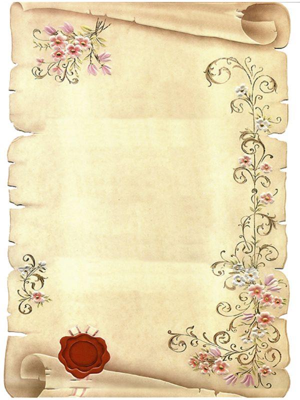 Papier à Lettre Style Parchemin