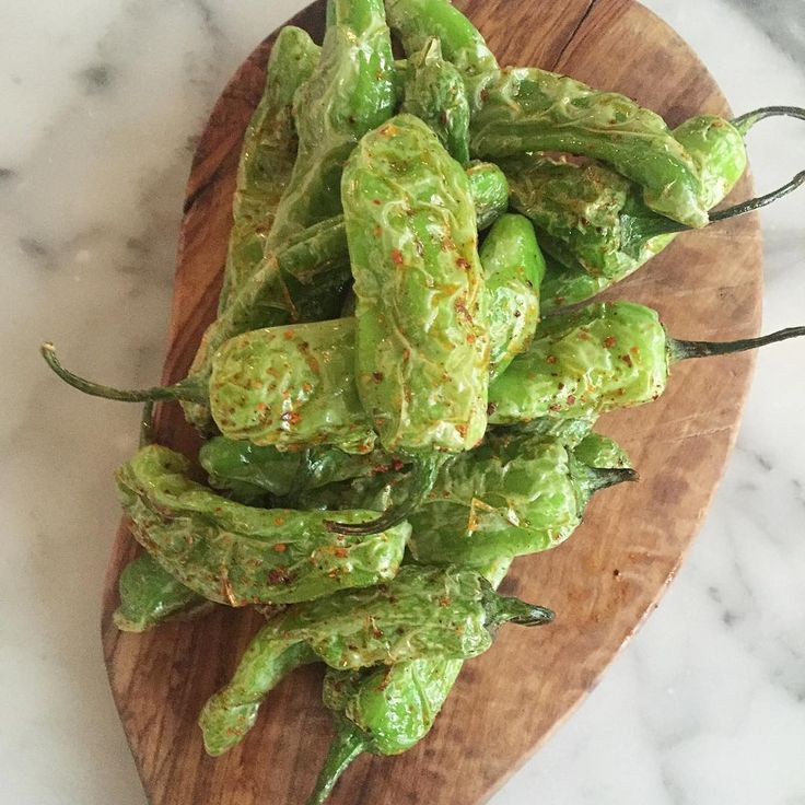Shishito Peppers. Find the spicy one! #HundredAcres