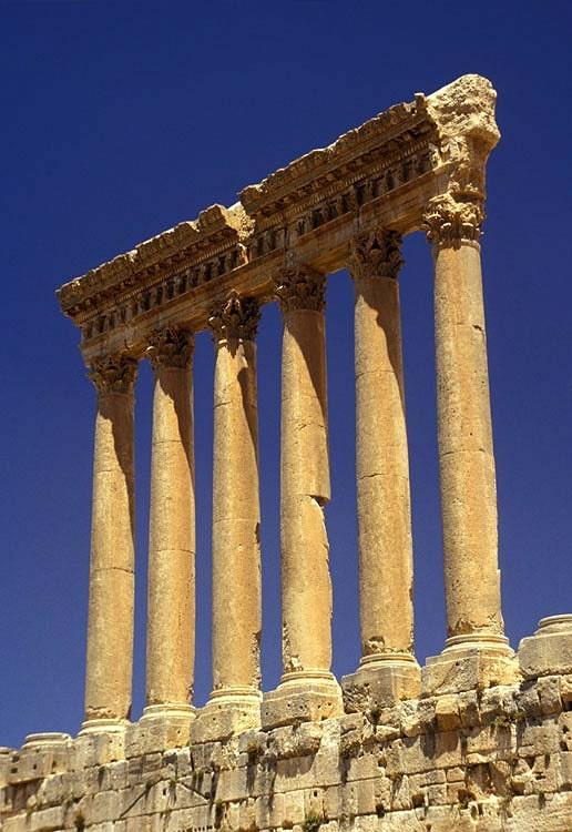 Roman Columns Roman Columns Baalbeck Lebanon
