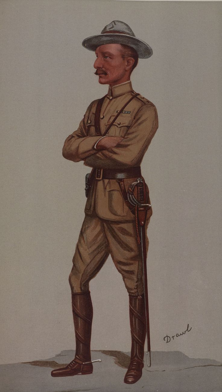 Robert Baden-Powell, or 'BP', as he became known, founded the Boy Scouts.  Perhaps he, more than anyone - as Vanity Fair put it in 1900, when his caricature was published -  'grasped the trite old saying that 'the boy is the father of the man'.