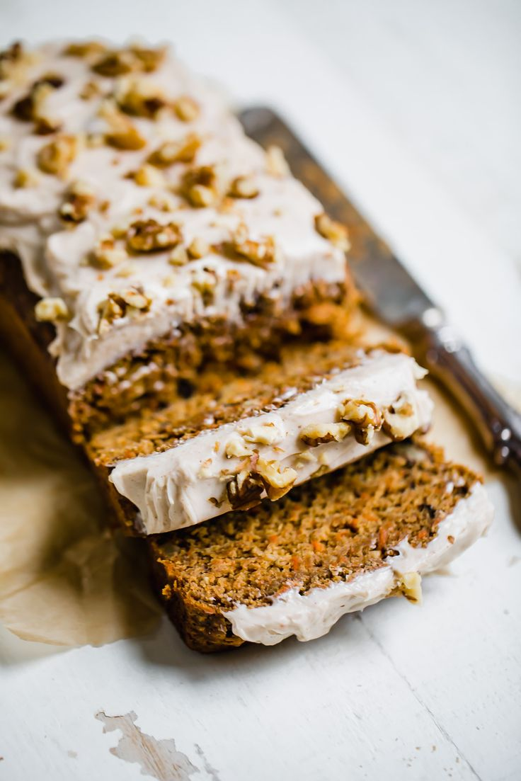 What do you get when carrot cake and banana bread come together? An incredible healthy Carrot Cake Banana Bread. Don't forget the cinnamon cream cheese frosting.