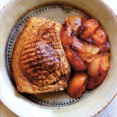 Nigel Slater's pork chop with plum chutney, an easy Sunday lunch ...