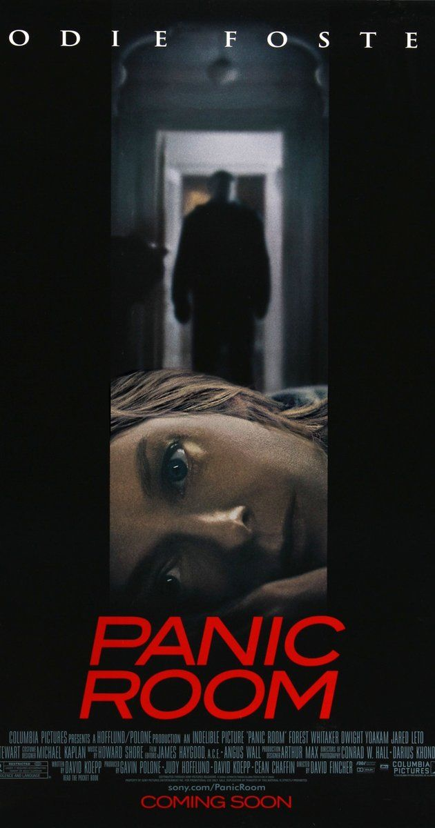 Directed by David Fincher.  With Jodie Foster, Kristen Stewart, Forest Whitaker, Dwight Yoakam. A divorced woman and her diabetic daughter take refuge in their newly-purchased house's safe room, when three men break-in, searching for a missing fortune.