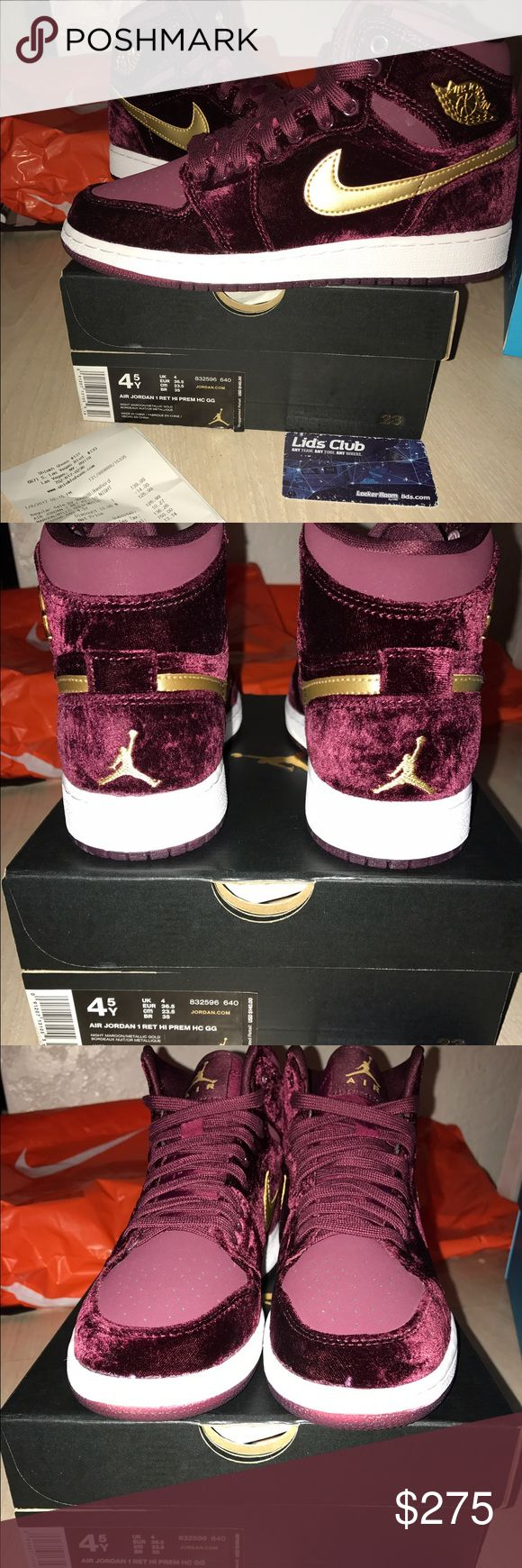 100% Authentic Jordan 1 GS Heiress Brand new never tried on. Comes with receipt and original box. Jordan Shoes Athletic Shoes
