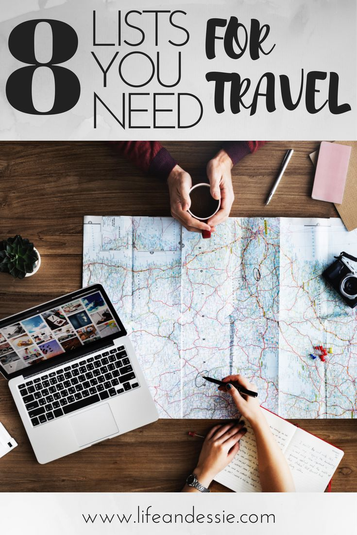 8 Great lists that you need for next time you travel abroad! These lists will help next time you are planning a holiday!
