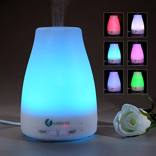 Essential Oil Diffuser, LUCKLED Newest Oil Cool Mist Color Humidify, 7 Color LED Lights Changing and Waterless Auto Shut-off for Home Office Bedroom LuckLED http://www.amazon.com/dp/B0175UJIGE/ref=cm_sw_r_pi_dp_0p-xwb0TFH6HB