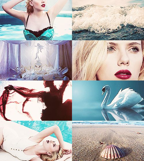 Greek Mythology Dreamcast - Scarlett Johansson as Aphrodite The goddess who was sprung from the dark-blue depths of the sea and was nurtured by the foam from the frothing waves. (x)  -Yes please <3-