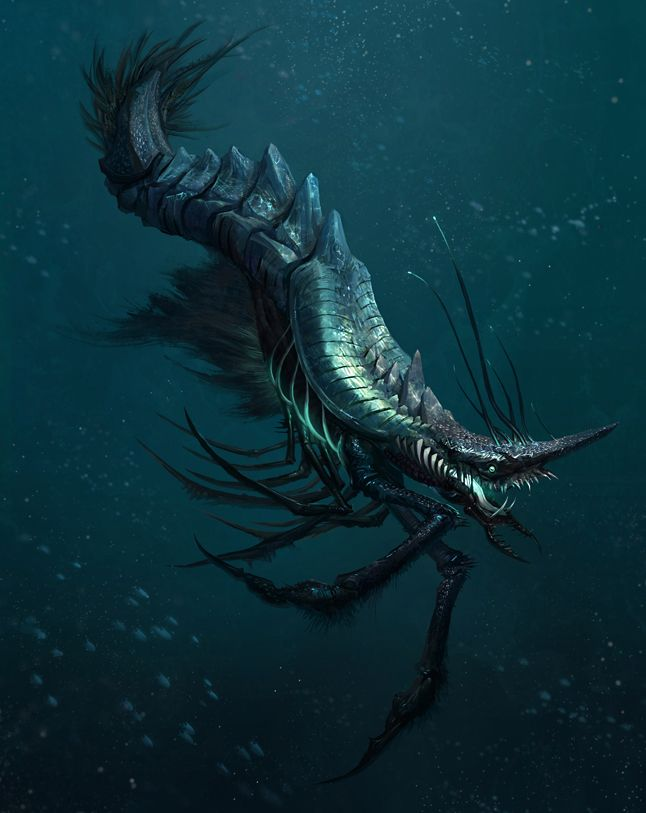 Alien sea creature by ~yefumm on deviantART
