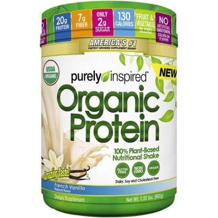 Purely Inspired French Vanilla Organic Protein Shake Mix, 1.50 lbs - Walmart.com