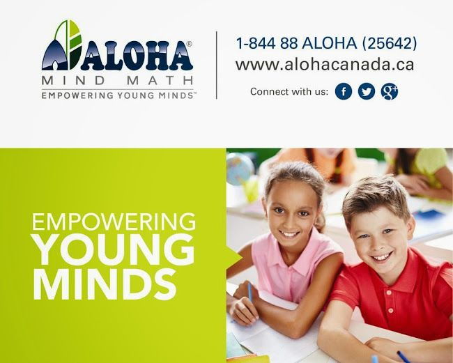 512 Bristol Rd W, Unit 9, Mississauga, ON L5R 3Z1 | Empowering YOUNG MINDS | Aloha Mind Math program is much more than math.  Aloha Mind Math program is a holistic brain development program for kids based on the use of the Abacus. It is offered in more than 4000 centers worldwide. For more details, Please Call the Toll Free No: 1-844 88-(ALOHA) 25642 (or) visit our website http://abacusmath.ca/. Aloha Mind Math is a holistic mental development process based on mental arithmetic system. It…