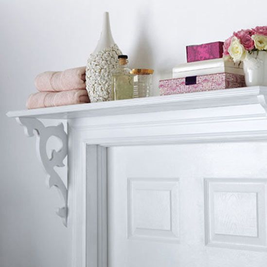 over the door storage! esp. with baskets in the bathroom for refill items (q-tips, tp, feminine products...).