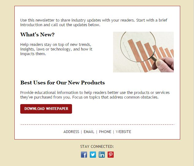 106 best Email Templates from Constant Contact images on Pinterest - sample email marketing