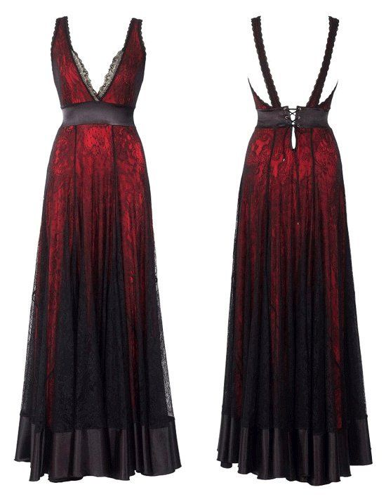 ombre Red and Black Long Dress by Michal Negrin     oh to be thin enough to fit clothes like this.