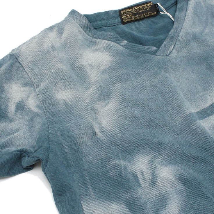DENIM DUNGAREE(デニム&ダンガリー):ビンテージテンジクタイダイVネックTシャツ 24ONVオールドネイビー の通販【ブランド子供服のミリバール】