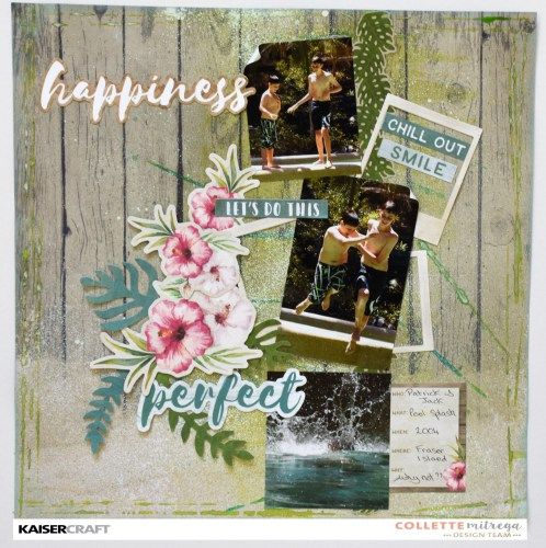 Kaisercraft March 2017 Official Blog Challenge. 'Let's Do This' layout Inspiration by Collette Mitrega Design Team member for Kaisercraft using their 'Island Escape' collection. (February 2017) Learn more at kaisercraft.com.au/blog ~ Wendy Schultz ~ Scrapbook Layouts.