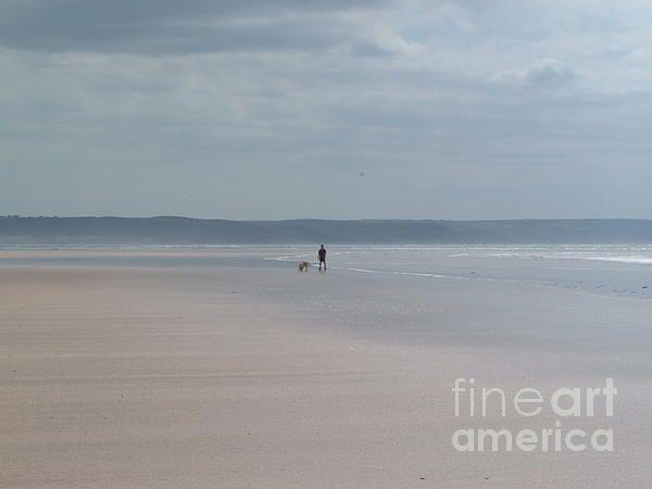 """""""Solitude"""" Saunton Sands beach, North Devon, England UK"""