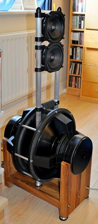 No-Baffle DIY loudspeaker Cradle frame design