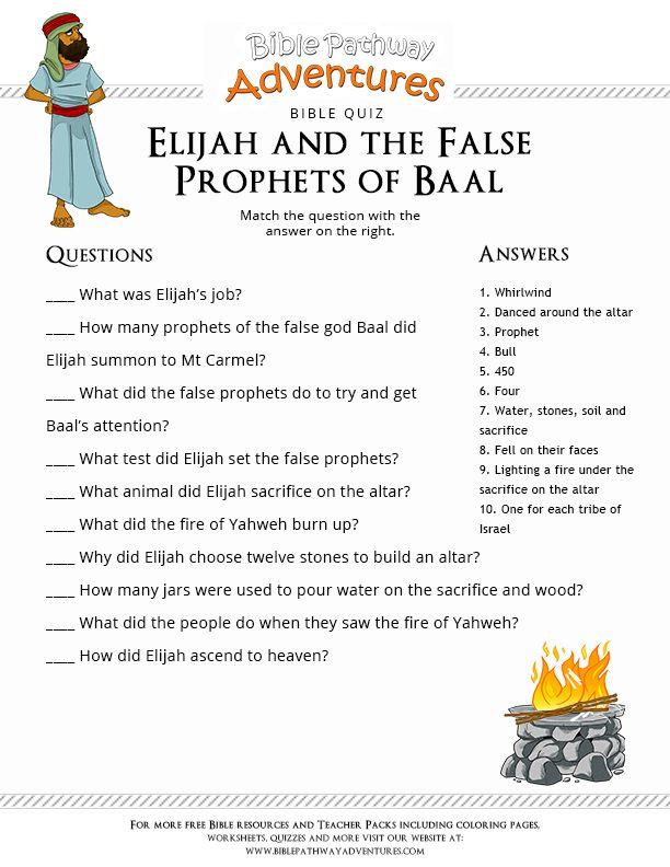 Elijah and the Prophets of Baal | Reformed Bible Studies ...