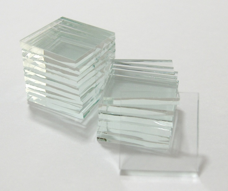 Clear Glass Square Tiles Tesserae for Pendants - Unfinished Sharp Edges for Art Soldered Jewelry - 20 3/4 Inch Tiles. $3.75, via Etsy.