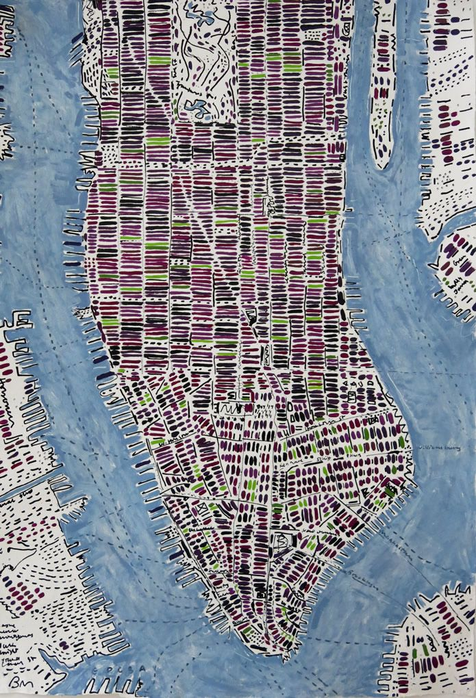 Chicago Map With Neighborhood Names%0A Manhattan Maps   Barbara Macfarlane
