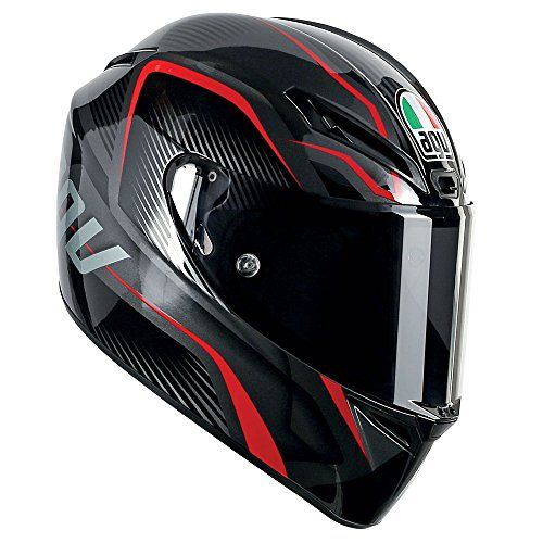agv gt-veloce txt helmet-red-black-ml