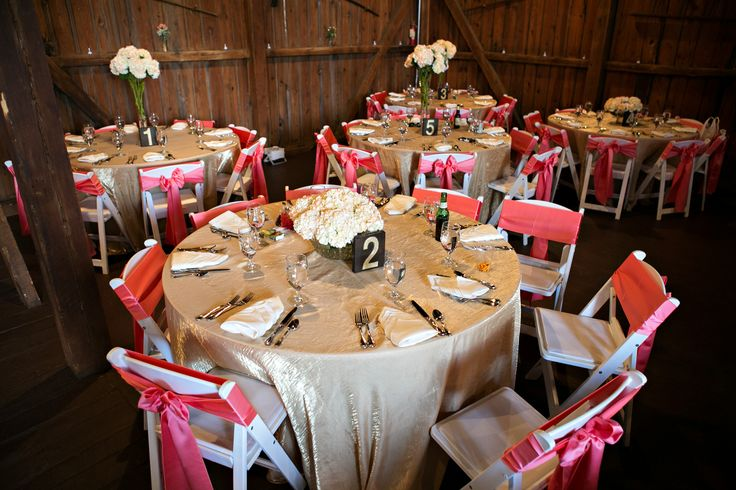 White Banquet Chair Covers C Pink Satin Sashes Simply Unique We Als Pinterest