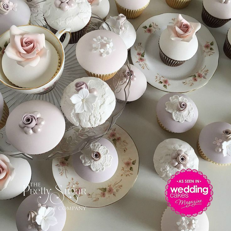 Our pretty vintage style wedding cupcakes featured in Wedding Cakes Magazine Autumn 2017 edition
