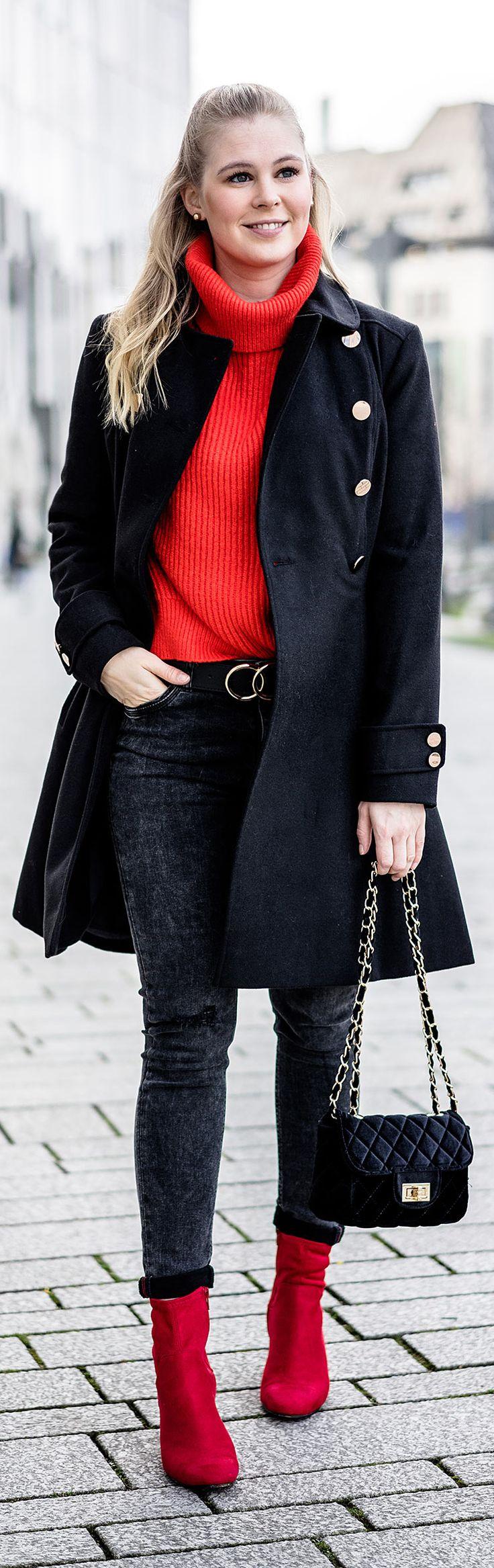 Rote Schuhe kombinieren – So geht's!
