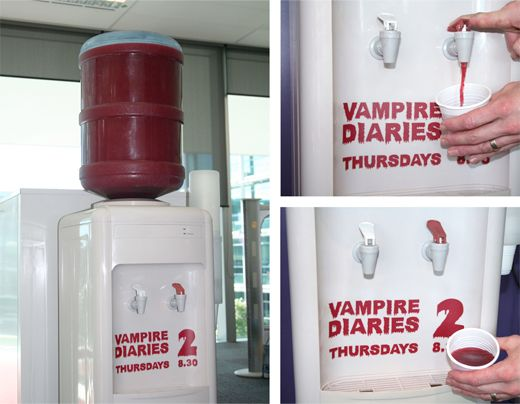 "Guerrilla Advertising ""Vampire Diaries"""