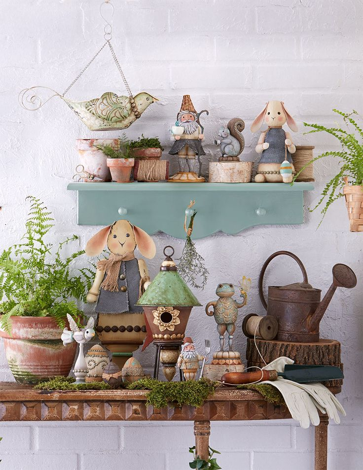 Great garden decor ideas from Jim Shore.