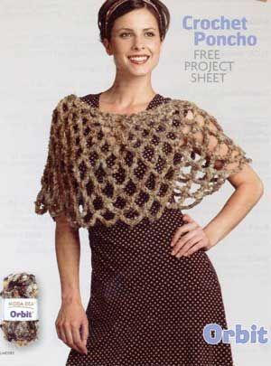 Crochet Poncho LM0183   Free Patterns   Yarn