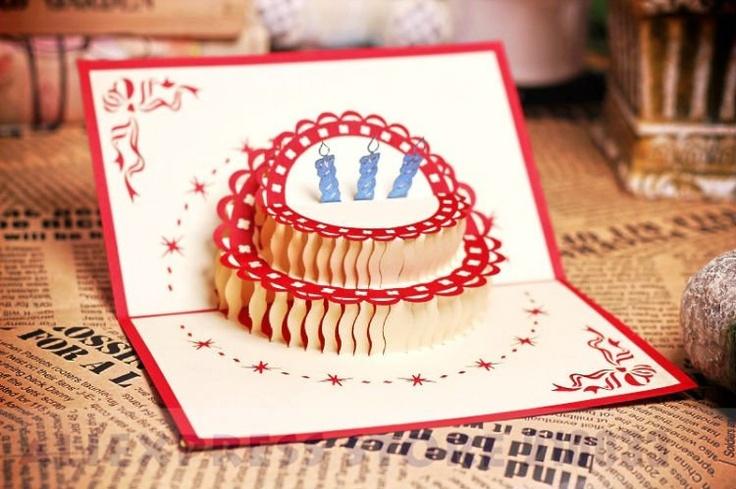 Birthday Cake Handmade Creative Kirigami & Origami Pop UP Birthday ...