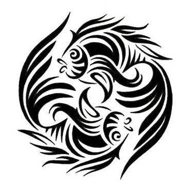 tribal_goldfish_pisces_tattoo_5.jpg (374×374)