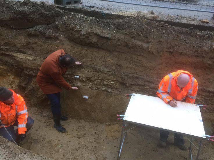 Voerendaal | november 2016 | bij werkzaamheden worden funderingen van de romeinse weg Via Belgica blootgelegd.