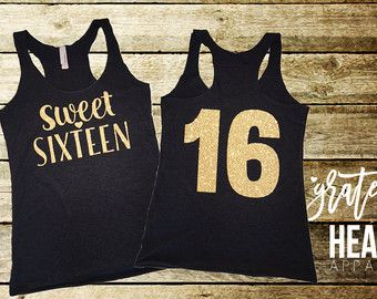 Sweet 16 Shirt with Script Writing by MagicalMemoriesbyJ on Etsy