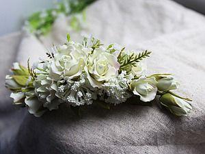 Создаем свадебный гребень с розами | Ярмарка Мастеров - ручная работа, handmade