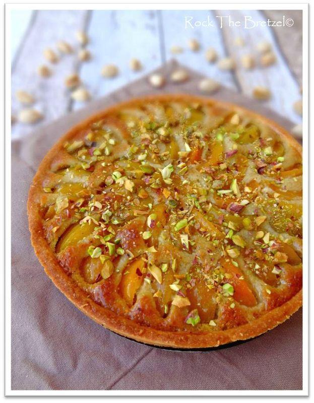 Tarte aux abricots et crème d'amande à la pistache (CAP pâtisserie)