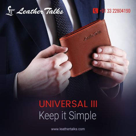 Universal - III - One of our best selling mens wallets. This thin, slim and compact men's leather wallet is designed with the best quality leather and is offered in three classy shades of black, brown and blue.   #8cardsslots  #smoothfinish #classylook  http://leathertalks.com/product/universal-iii/