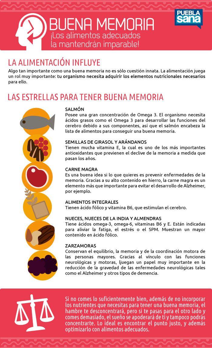 Remedios naturales para la BUENA MEMORIA: alimentos recomendados