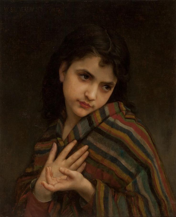 William Adolphe Bouguereau (French, 1825-1905) La frile
